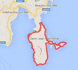 Nice : Saint-Jean-Cap-Ferrat (12,1km)