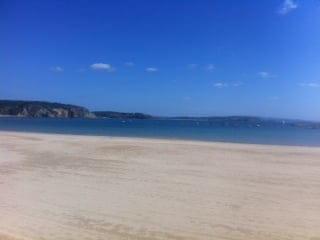 Della Spiaggia  - voici la vue de notre terrasse chauffee -