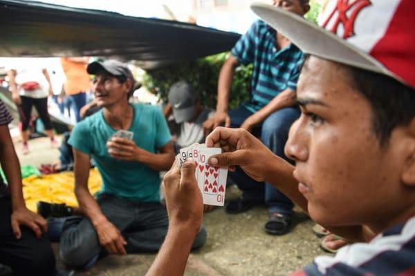 La caravane des migrants atteint 100 kilomètres parcourus au Mexique 10963748