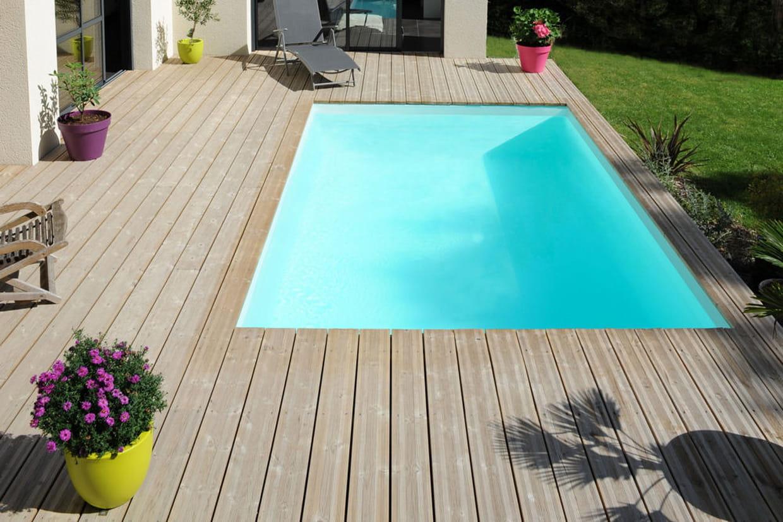 Petite piscine - Petite piscine semi enterree ...