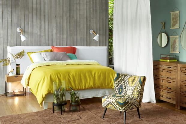 des rideaux en chanvre. Black Bedroom Furniture Sets. Home Design Ideas