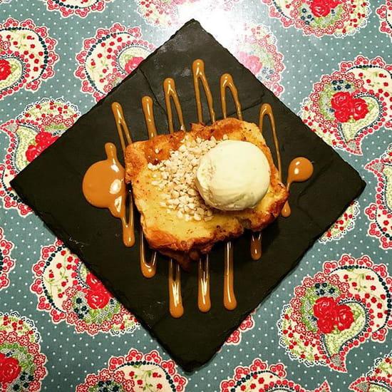 Dessert : La Solette  - Brioche perdue et caramel beurre salé -   © la solette