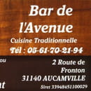 Restaurant : Restaurant de L'Avenue  - Carte de visite -   © AM