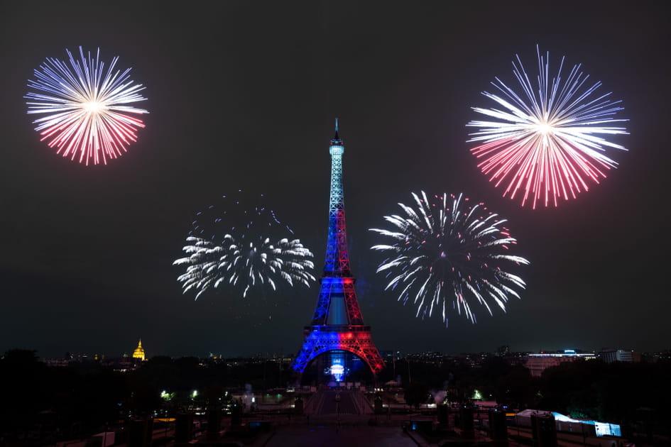 Les plus belles images du feu d'artifice du 14juillet 2021à Paris