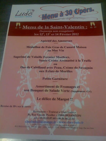 Chez Ludo  - La Saint-Valentin -