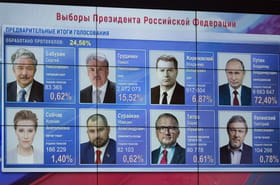 Poutine réélu en Russie: mais qui étaient ses concurrents?