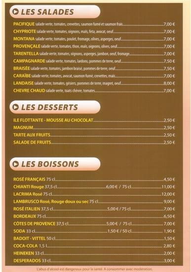 Pizza Delis  - Carte page 4 -   © PositivePC
