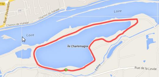 Orléans : l'île Charlemagne (3,2km)