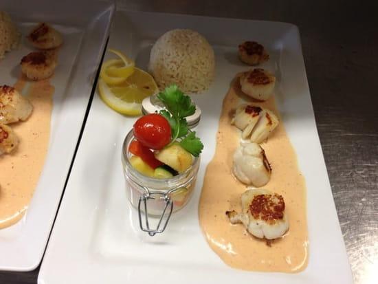Plat : Chalet Gourmand  - St Jacques au piment d'espelette -
