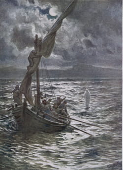 Jésus marche sur l'eau