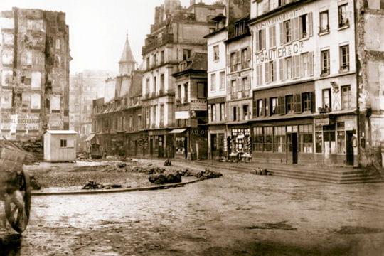 La rue Réaumur vers 1850