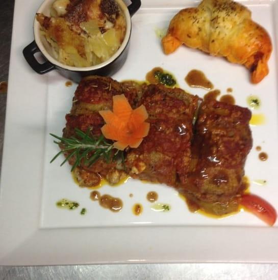 Plat : Lou Pebre d'Aïl  - Cannelloni  d aubergine à la brousse  -