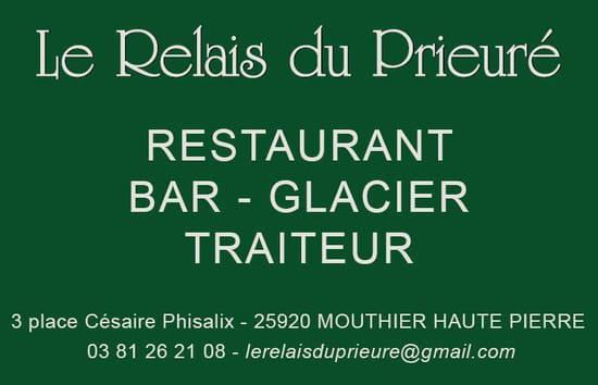 Restaurant : Le Relais du Prieuré   © lerelaisduprieuré