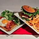 Crêperie de la Cathédrale  - Galette Kentucky et burger breton au boeuf -