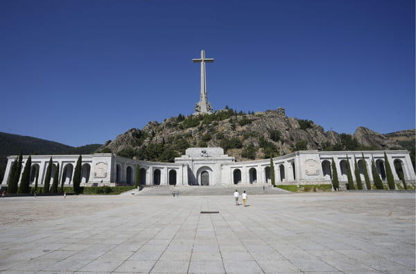 "Le ""Valle de los Caidos"", près de Madrid, où se trouve la tombe de Franco."