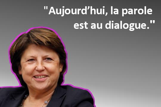 La parole de Martine Aubry