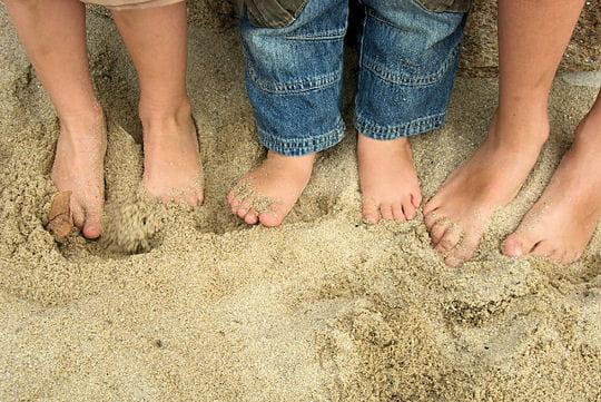 La plage, c'est le pied
