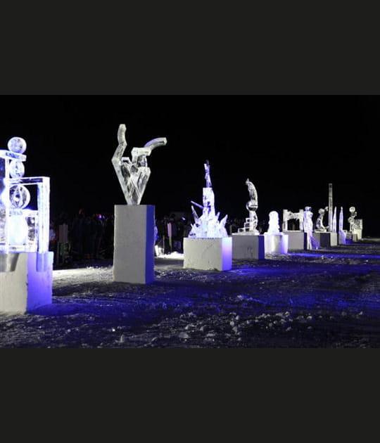 Suivre le concours international de sculptures sur glace à Valloire