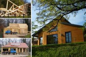 Construction d'une maison en bois dans l'Ain