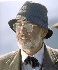sean connery dans 'indiana jones et la dernière croisade' (1989).