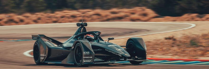 Porsche dévoile sa Formule E en essais