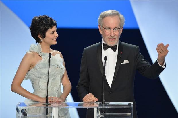 Audrey Tautou et Steven Spielberg ouvrentlebal
