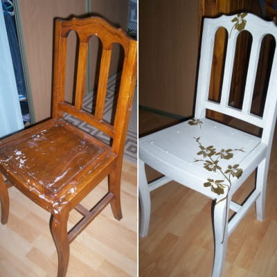 Chaise en bois for Renover une chaise medaillon
