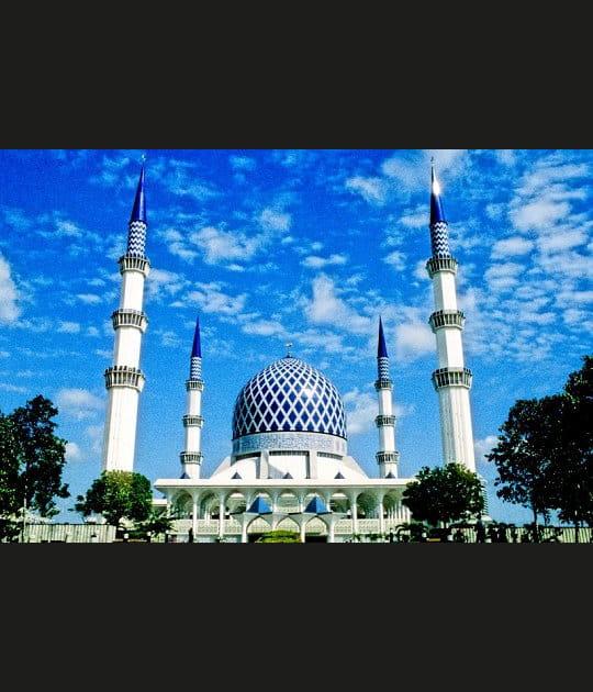 La mosquée bleue de Shah Alam