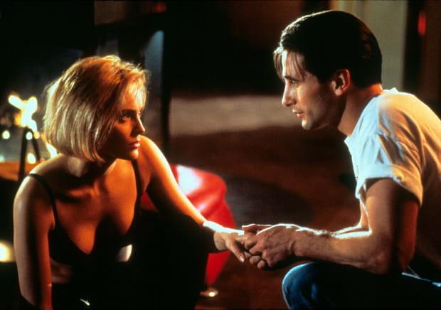 "Sharon Stone et William Baldwin dans ""Sliver"""