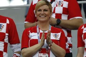 La présidente de la Croatie est vraiment dingue de foot!