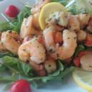 Entrée : Chez Philippe Et Muriel  - Salade Jacques et crevettes -