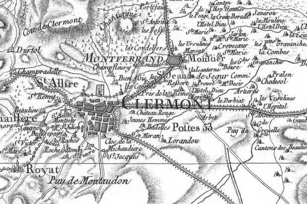 Clermont-Ferrand en 1759