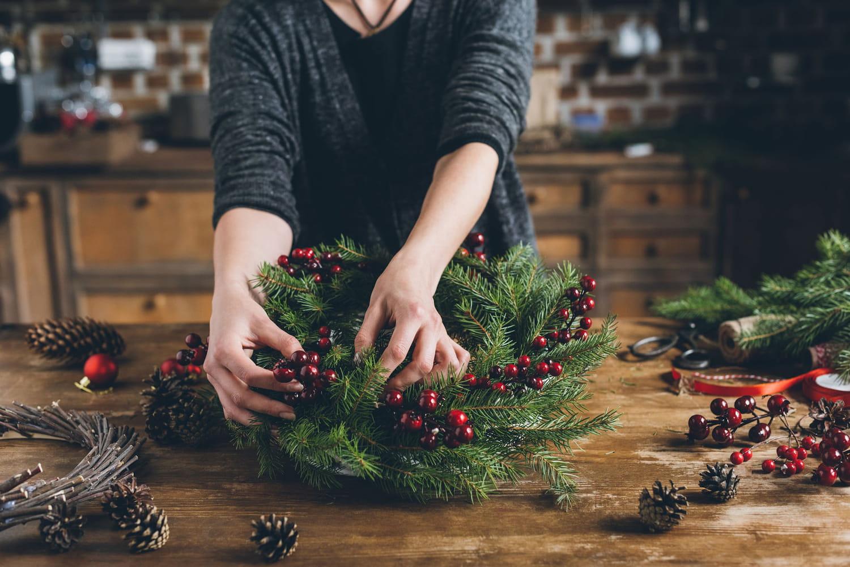 Couronne de Noël: comment la fabriquer soi-même?