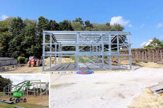 Montage de la structure m tallique - Construire un hangar metallique ...