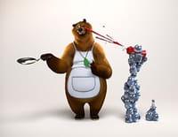 Grizzy et les lemmings  : Ours à sec