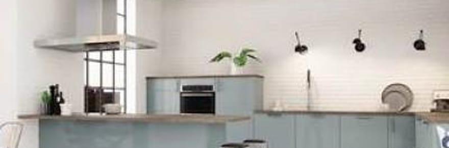 Une cuisine design au look industriel, découvrez la cuisine Astral bleu Hygena