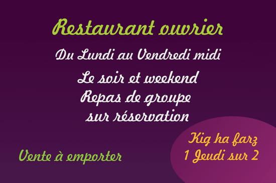 Restaurant : L'Auberge In   © carte de visite