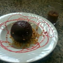 Dessert : Au Fil du Vent  - Sphère chocolat coeur de griottes -