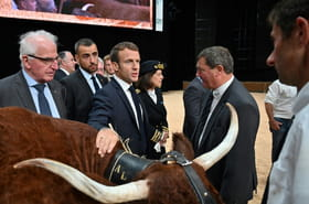 Après les éleveurs, Macron loue les journalistes et s'en prend à Google