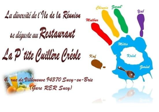 La P'tite Cuillère Créole  - La carte de visite face -   © Joël et la création Palto pour la main