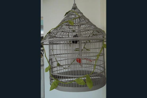 Un lustre cage à oiseau