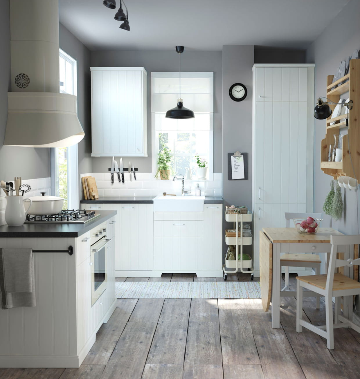 une cuisine aux finitions minutieuses. Black Bedroom Furniture Sets. Home Design Ideas