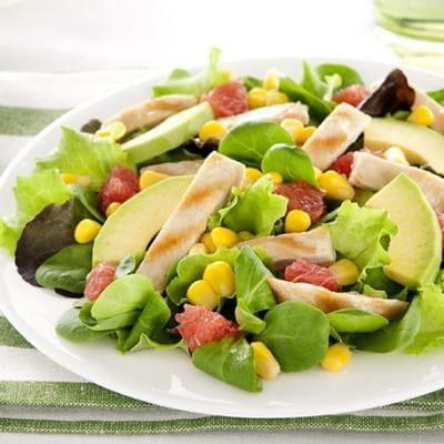 The Placeto Eat  - salade-poulet mais-avocats -