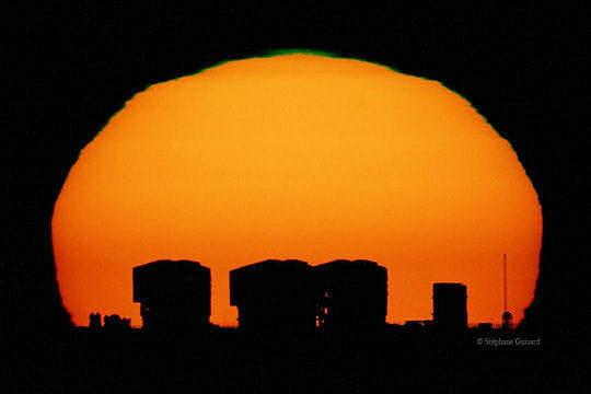 Coucher du soleil au Chili