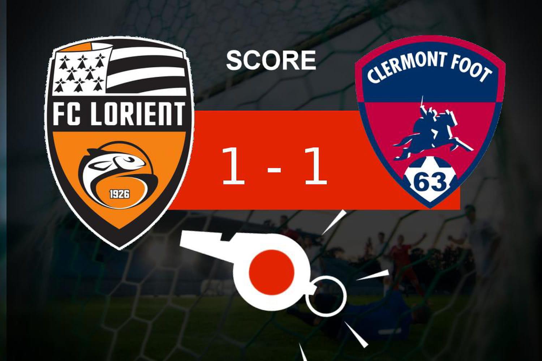Lorient - Clermont: des buts mais pas de gagnant, les moments clés du match