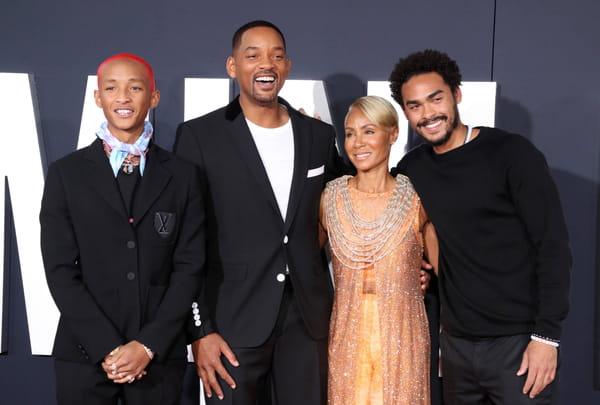 Jaden Smith, Will Smith, Jada Pinkett et Trey Smith à l'avant-première de Gemini Man en 2019
