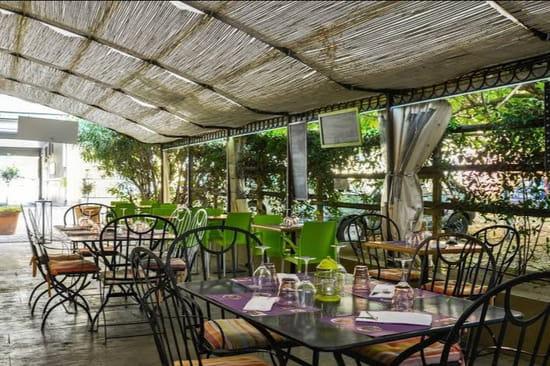 Restaurant : Chez Fred  - Terrasse à l abris des intempéries -   © Terrasse ombragée