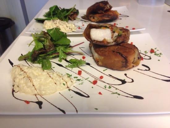Restaurant : Terre et Mer  - Croustillant de la mer au filet d'espadon et risotto  -
