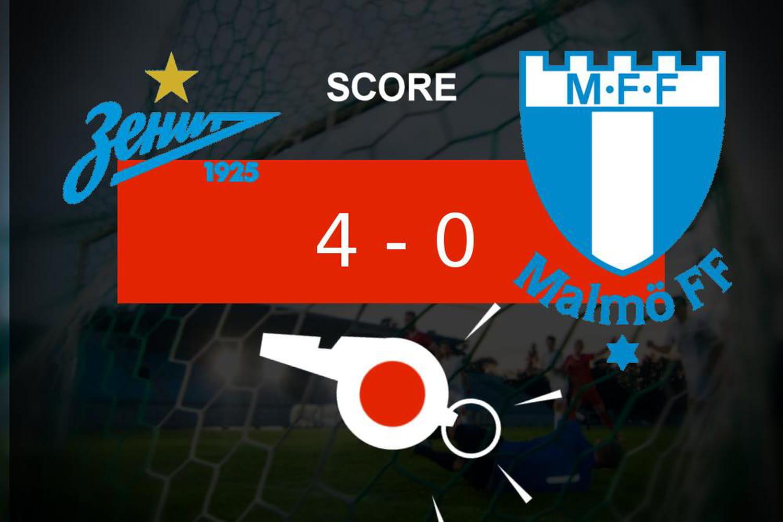 Zénith - Malmö: grosse punition pour le Malmö FF (4-0), ce qu'il faut retenir