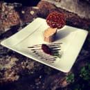 Entrée : Restaurant Le Pelican  - Foie gras au torchon poche au vin rouge épicé -